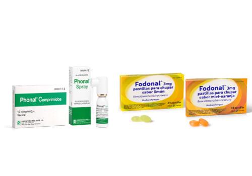 Bucofaríngeos, medicamentos
